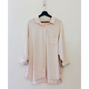 Old Navy | Oatmeal Color Tunic Button Down Top